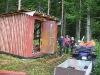 Bygge av vindskydd